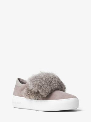 Maven Fur and Suede Slip-On Sneaker by Michael Kors