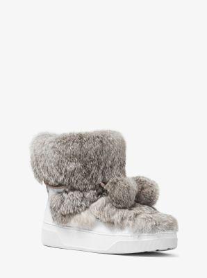 Nala Fur and Calf Hair High-Top Sneaker by Michael Kors