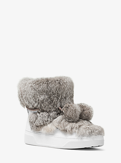 Nala Fur and Calf Hair High-Top Sneaker by Michael Kors