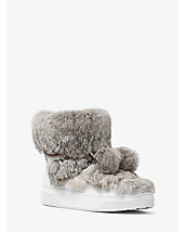 Nala Fur and Calf Hair High-Top Sneaker