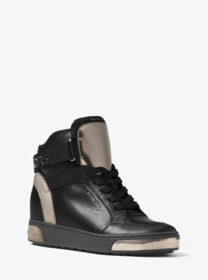 Pia High-Top Leather Sneaker by Michael Kors