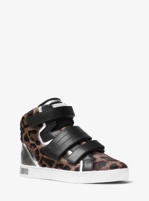 Randi High-Top Calf Hair Sneaker by Michael Kors