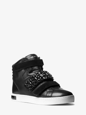 Randi High-Top Leather Sneaker by Michael Kors