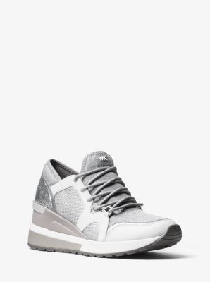 Scout Leather-Trim Sneaker   by Michael Kors