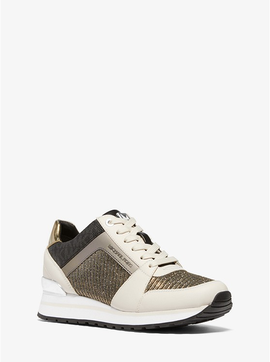 Billie Chain-Mesh and Leather Trainer | Michael Kors