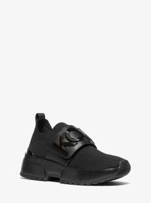 마이클 마이클 코어스 Michael Michael Kors Cosmo Knit Slip-On Trainer,BLACK