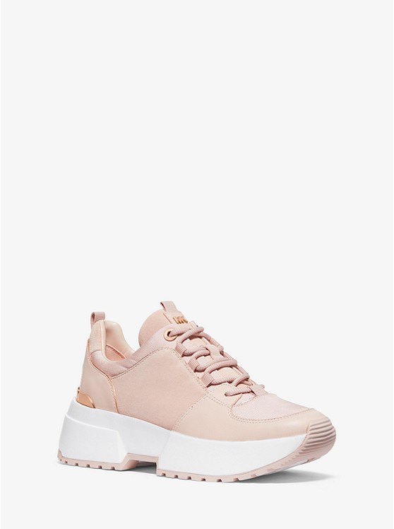 Cosmo Leather and Canvas Trainer | Michael Kors
