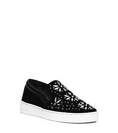 Nadine Embellished Suede Slip-On Sneaker