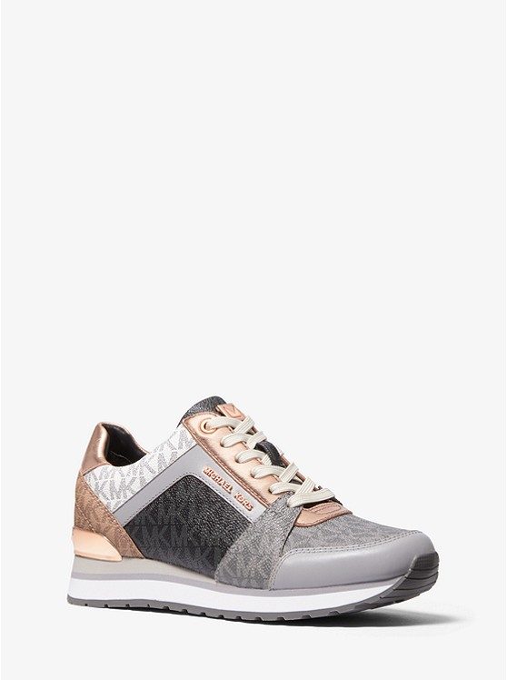Billie Color-Block Logo Trainer | Michael Kors