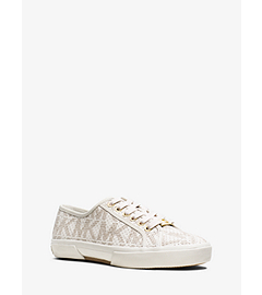 Boerum Logo Leather-Trimmed Sneaker by Michael Kors
