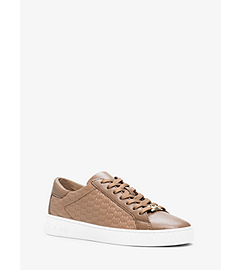 Colby Embossed-Logo Leather Sneaker by Michael Kors