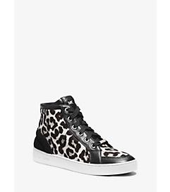 Keaton Hair Calf High-Top Sneaker by Michael Kors