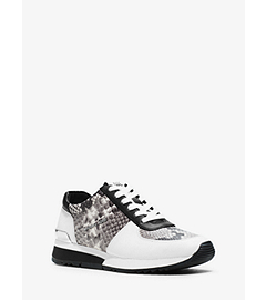 Allie Leather Sneaker  by Michael Kors