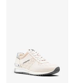 Allie Logo Leather Sneaker  by Michael Kors