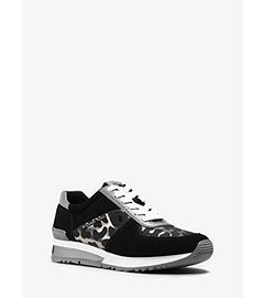 Allie Leopard Suede Sneaker  by Michael Kors
