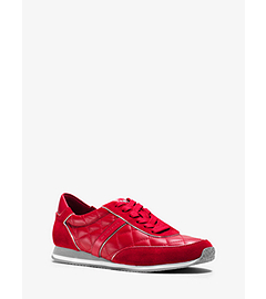 Charlie Quilted-Leather and Suede Sneaker by Michael Kors