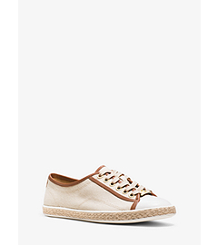 Kristy Canvas and Leather Sneaker by Michael Kors