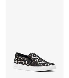 Keaton Leather Slip-On Sneaker  by Michael Kors