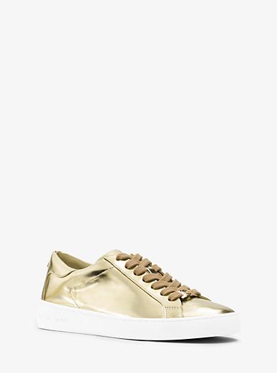 Keaton Metallic Leather Sneaker  by Michael Kors