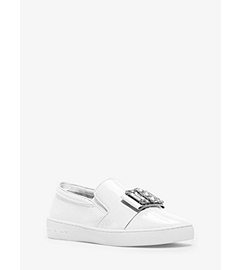 Michelle Patent-Leather Sneaker  by Michael Kors