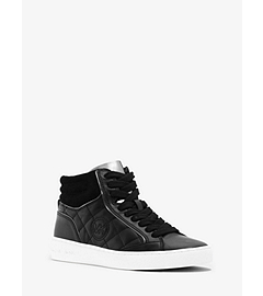 Paige Leather High-Top Sneaker  by Michael Kors