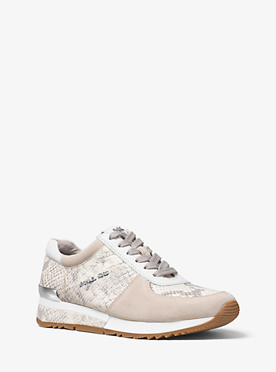 Sneaker Allie in pelle goffrata e scamosciata by Michael Kors