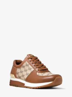 Allie Heritage Logo and Leather Sneaker by Michael Kors