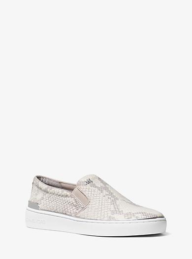 Slip-on-Sneaker Kyle aus geprägtem Leder by Michael Kors