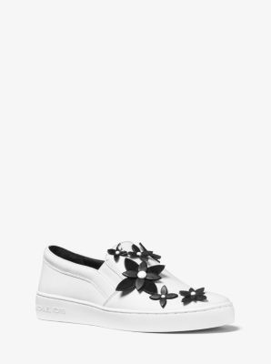 lola embellished leather slip on sneaker michael kors. Black Bedroom Furniture Sets. Home Design Ideas