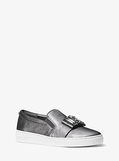 Slip-on-Sneaker Michelle aus Leder in Metallic-Optik by Michael Kors