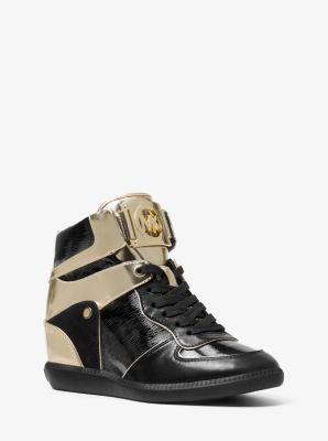 Nikko Mixed-Media High-Top Sneaker by Michael Kors