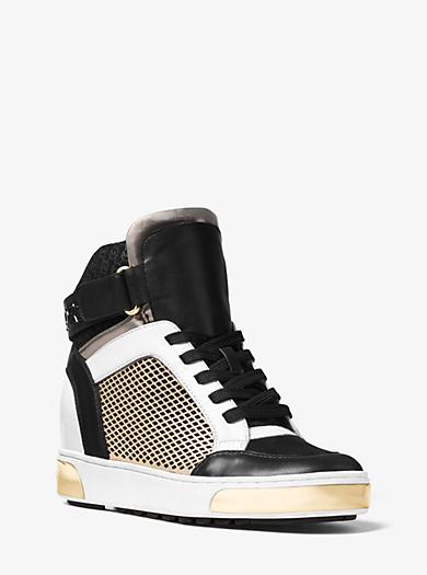 Knöchelhoher, dreifarbiger Sneaker Pia aus Leder by Michael Kors