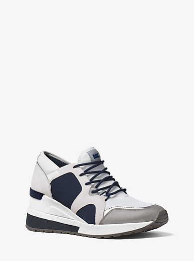 Sneaker Scout in satin e pelle scamosciata by Michael Kors