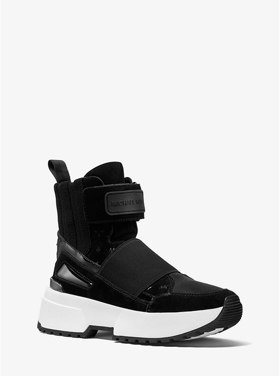 Cosmo Mixed-Media High-Top Trainer | Michael Kors