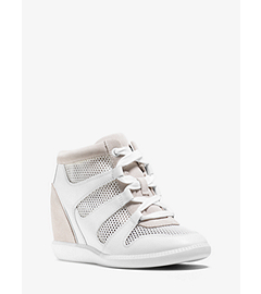 Astrid Mixed-Media High-Top Sneaker by Michael Kors