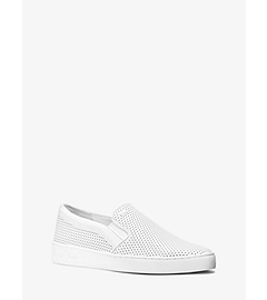 Keaton Perforated-Leather Slip-On Sneaker  by Michael Kors