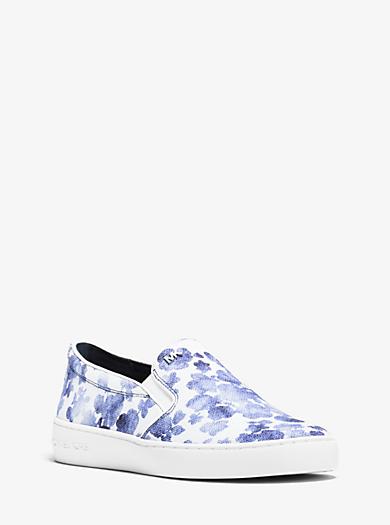 Keaton Floral-Print Canvas Slip-On Sneaker  by Michael Kors
