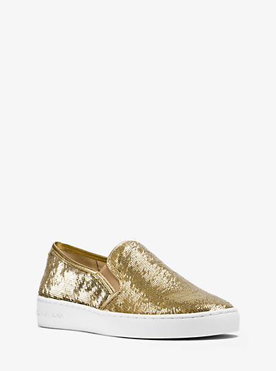 Keaton Sequined Slip-On Sneaker  by Michael Kors