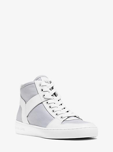 Matty High-Top Twill Sneaker  by Michael Kors