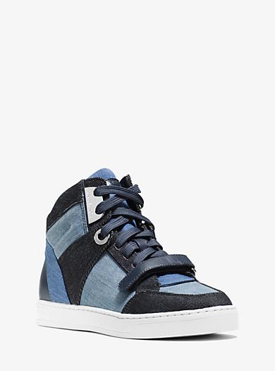 Ollie High-Top Denim Sneaker  by Michael Kors