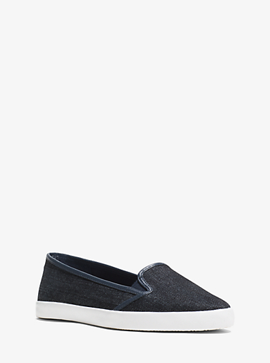Olive Denim Sneaker  by Michael Kors