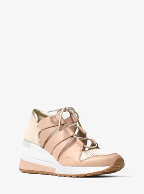 Beckett Leather and Mesh Trainer by Michael Kors
