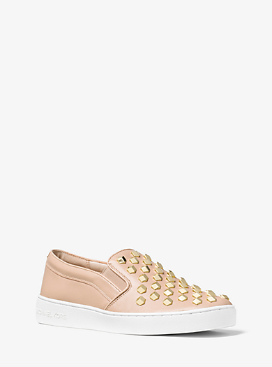 Desi Woven Leather Slip On Sneaker Women S Designer