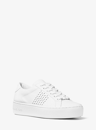 Poppy Leather Sneaker by Michael Kors