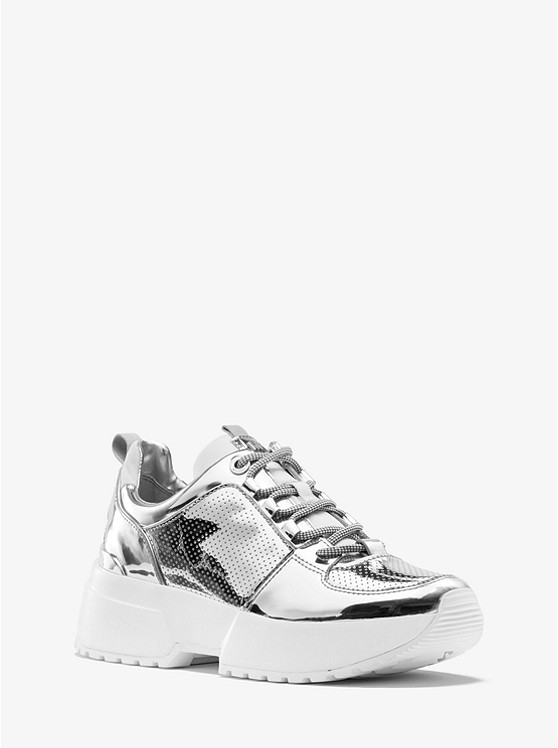 Cosmo Mirror-Metallic Trainer | Michael Kors