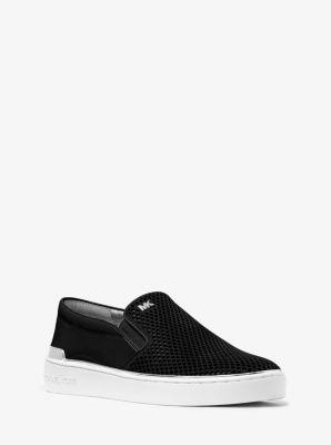 Kyle Perforated Suede Slip-On Sneaker  by Michael Kors