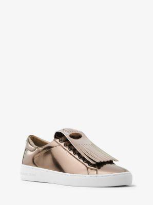 Keaton Metallic Kiltie Sneaker  by Michael Kors