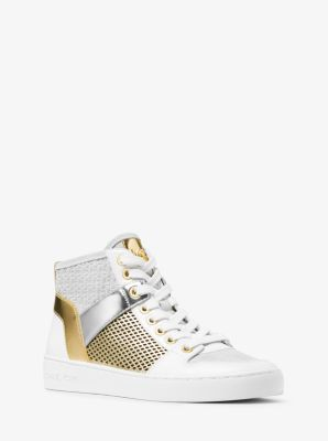 Matty Leather High-Top Sneaker by Michael Kors