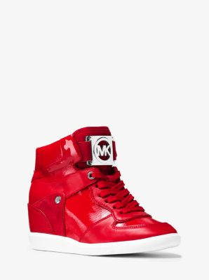Nikko Mixed-Media High-Top Sneaker by Michael Kors