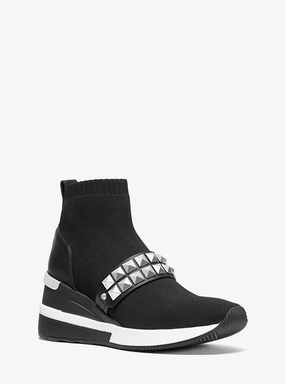 Skyler Studded Stretch-Knit Sock Sneaker | Michael Kors